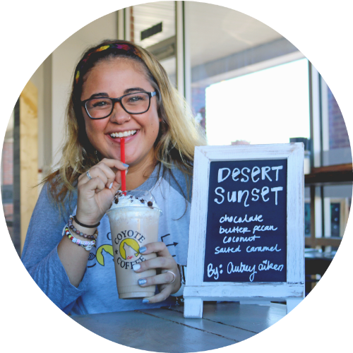 Aubrey - Barista drink of the month, Desert Sunset.