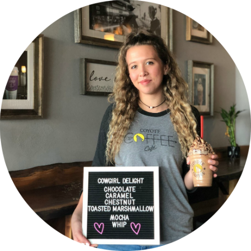 Izzy barista drink of the month pick - Cowgirl Delight.