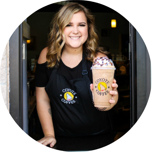 Barista Allie's drink pick of the month, Peanut Butter S'more, for July.