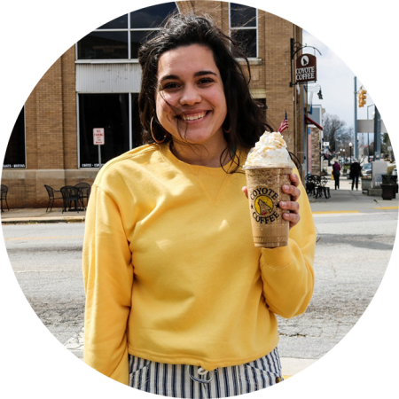 Barista Audrey's drink pick of the month, The Girl Scout, for March.